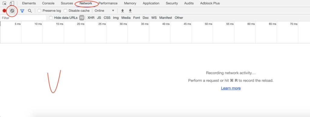Очистка событий инструментов для вебмастеров